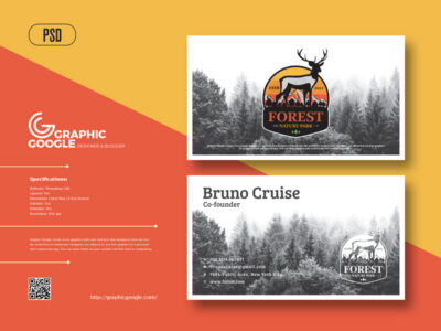 Forest Business Card PSD Mockup