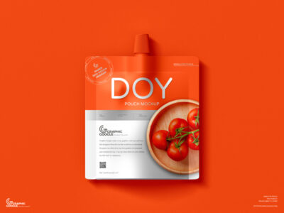 Free Sauce Pouch PSD Mockups