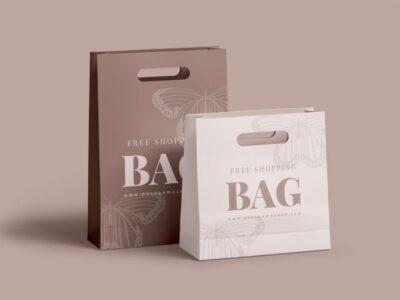 Free Paper Bag Mock for Shopping