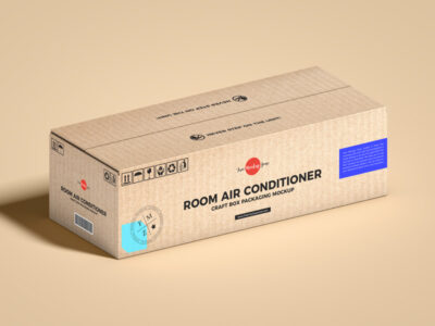 Free Air Conditioner Packaging Box Mockup