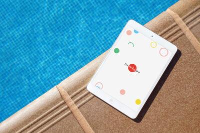 Free White iPad PSD Mockup