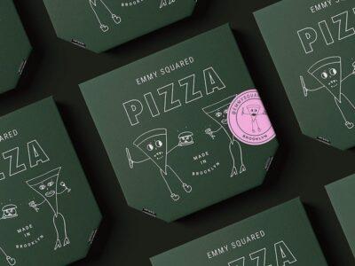 Black Pizza Box PSD Mockup
