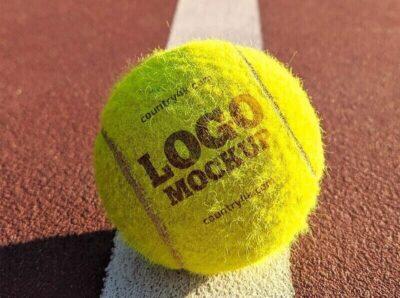 Free Tennis Ball PSD Mockups