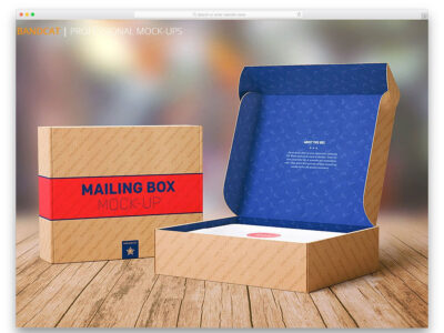Free Shipping and Product Box Mockups