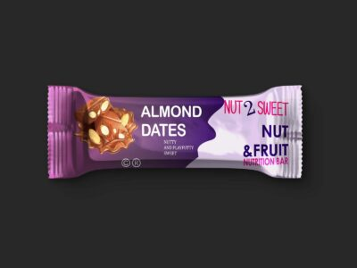 Free Almond Biscuit Packet PSD Mockup