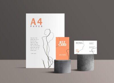 Free Branding Stationary PSD Mockup