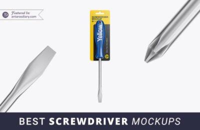 Free Screwdriver PSD Mockup