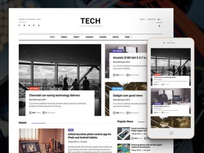 Free Online News Magazine PSD Mockup
