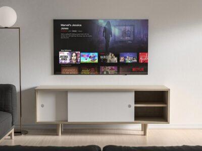 Free 4K LED TV Mockup PSD