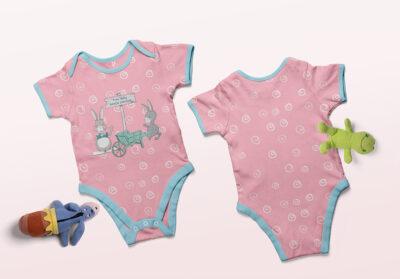 Free Baby Dress PSD Mockup