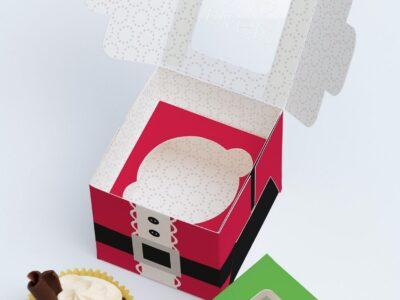Free Cup Cake Box PSD Mockup