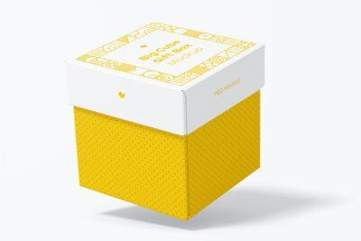 Big Square Gift Box PSD Mockup