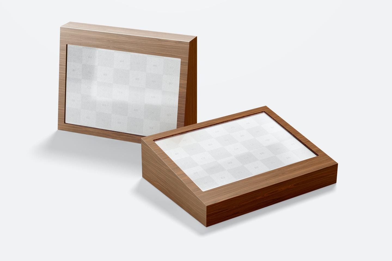 Free Wood Table Advertisement Mockups