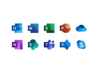 Free Microsoft Office Icons PSD Mockup