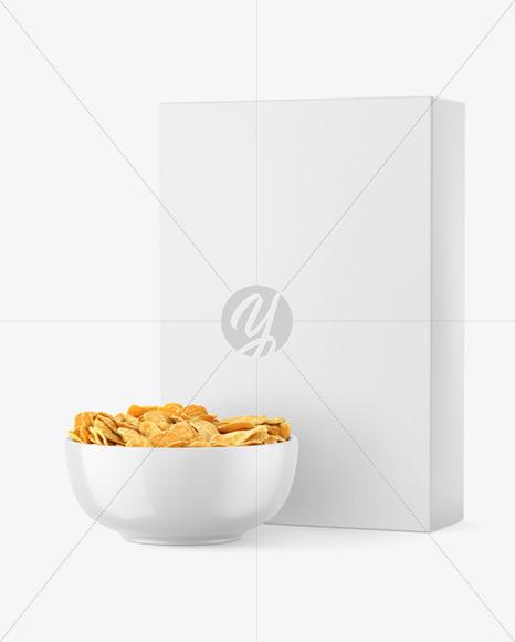 Free Corn Flakes Box PSD Mockup