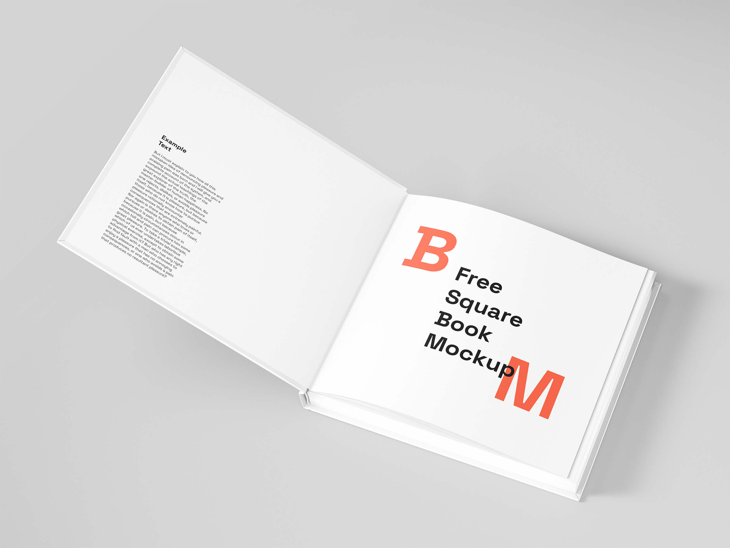 Free Square Cover Book PSD Mockup