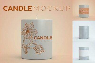 Best Designing Candle Light Mockup