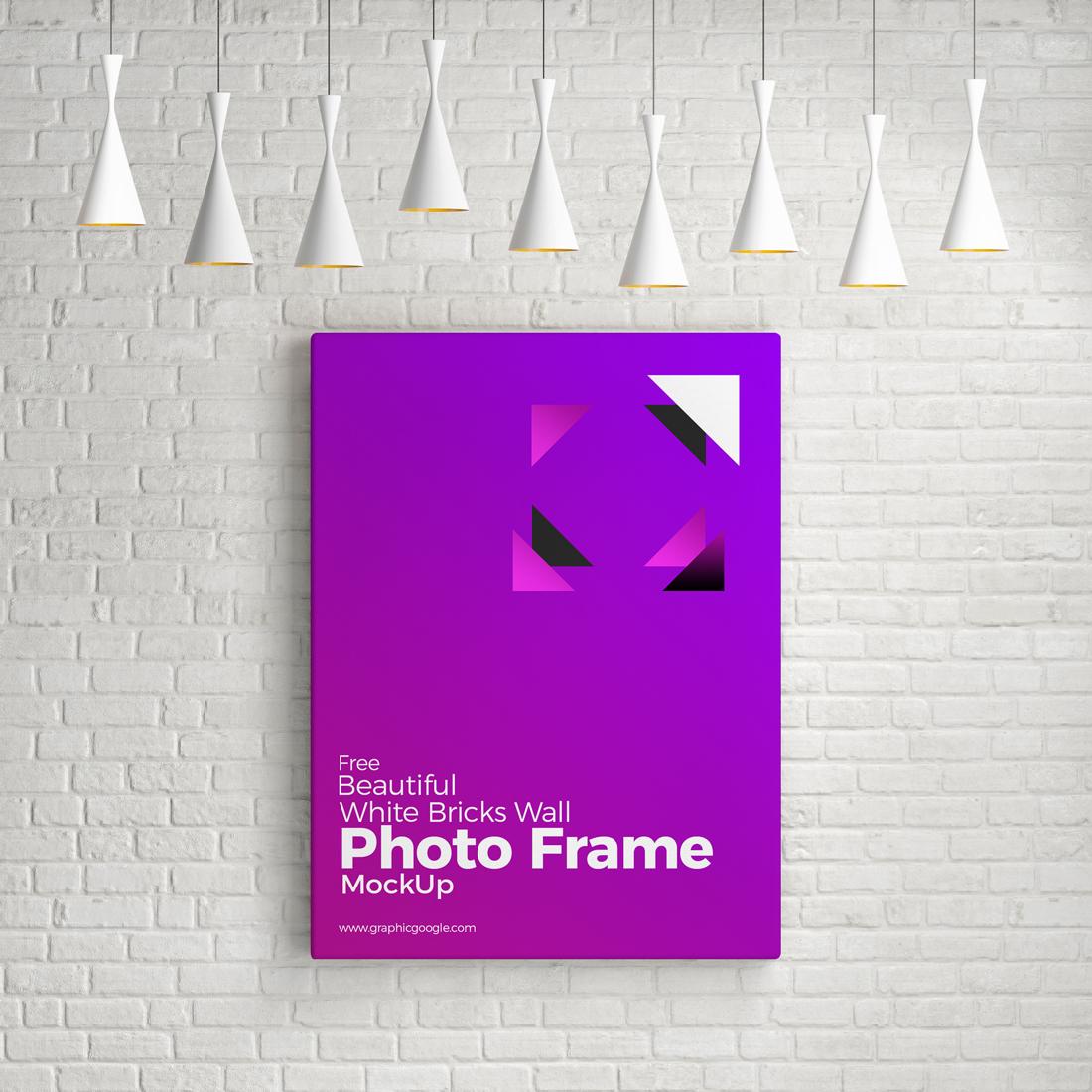 Free White Background Photo Frame Mockup