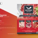 Free Butcher Shop Flyer PSD Mockup