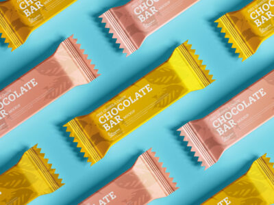 Free Candy Chocolate Packaging Mockup