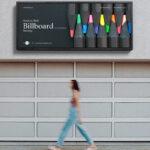 Free Outdoor Wall Billboard PSD Mockup
