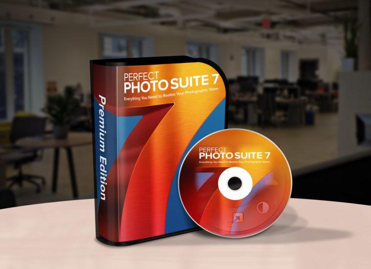 Free CD Box Package PSD Mockup