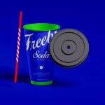 Free Ice Soda Cup PSD Mockup