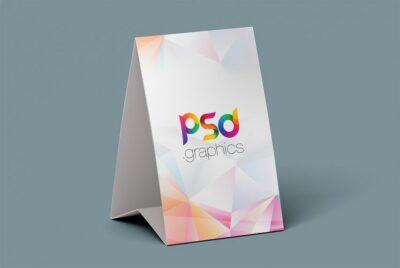 Free Tent Card Showcase PSD Mockup