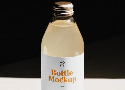 Best Glass Bottle PSD Mockup
