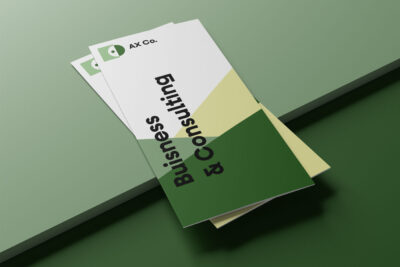 Free Trifold Business Brochure Mockup