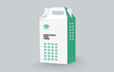 Paper Box Realistic Mockup Template