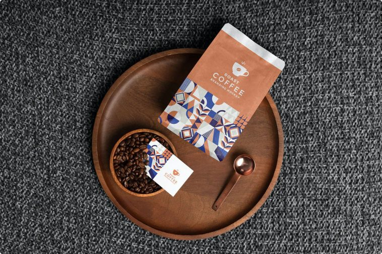 Free Premium Coffee Packaging PSD Mockup