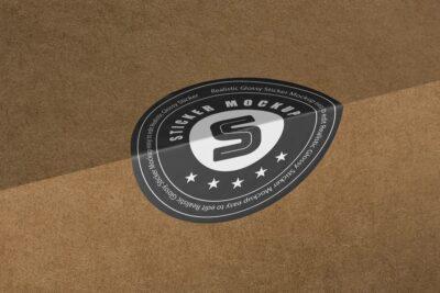 Free Company Sticker Logo Mockup
