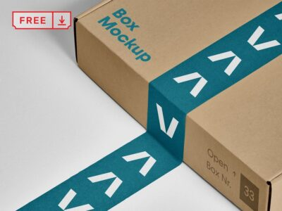Free Food Box Container PSD Mockup