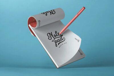 Small Office Notepad PSD Mockup