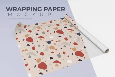 Gift Wrapping Paper PSD Mockup
