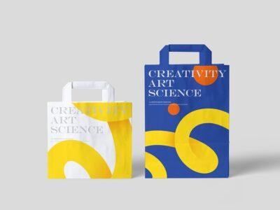 Free Paper Shopping Bag PSD Mockup