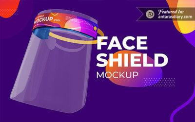 Free Face Shield Pack PSD Mockup
