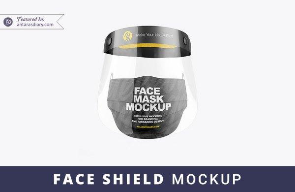 Free Full Face Shield PSD Mockup