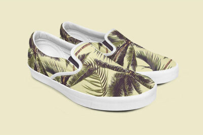 Free Slip-on Shoes Mockup Template